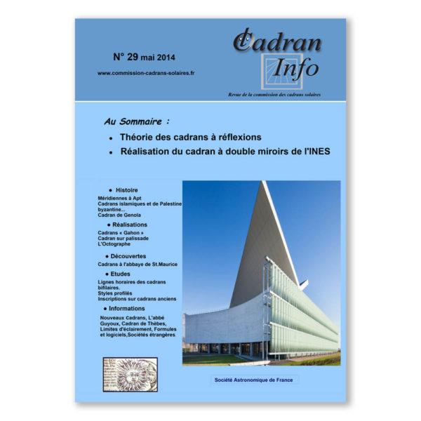 Cadran-Info 29