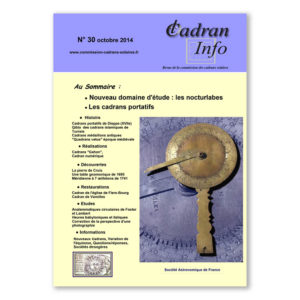 Cadran-Info 30