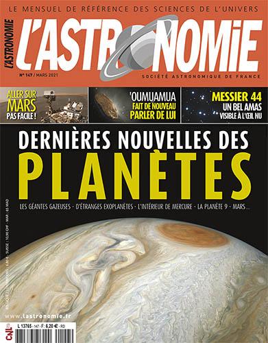 L'astronomie de mars 2021